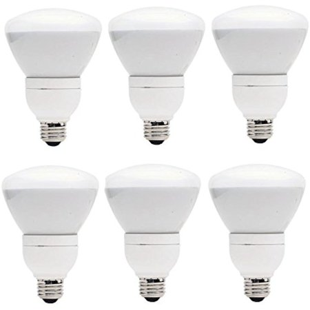 Set Of 6 GE Lighting CFL 15W 65W Equivalent R30 Soft White Directional Flood Light Dimmable 7 Year Life E26 Base