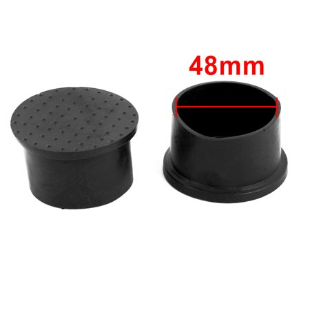 Furniture Chair Rubber Round Foot Leg Cover Protector Black 48mm Hole Dia 12 Pcs - image 1 of 3