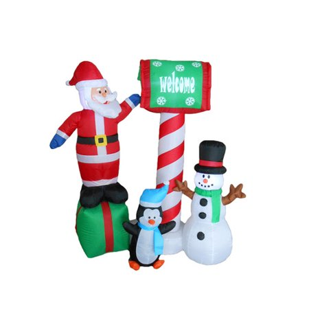 BZB Goods Santa, Penguin and Snowman Christmas - Snowman Yard Decorations