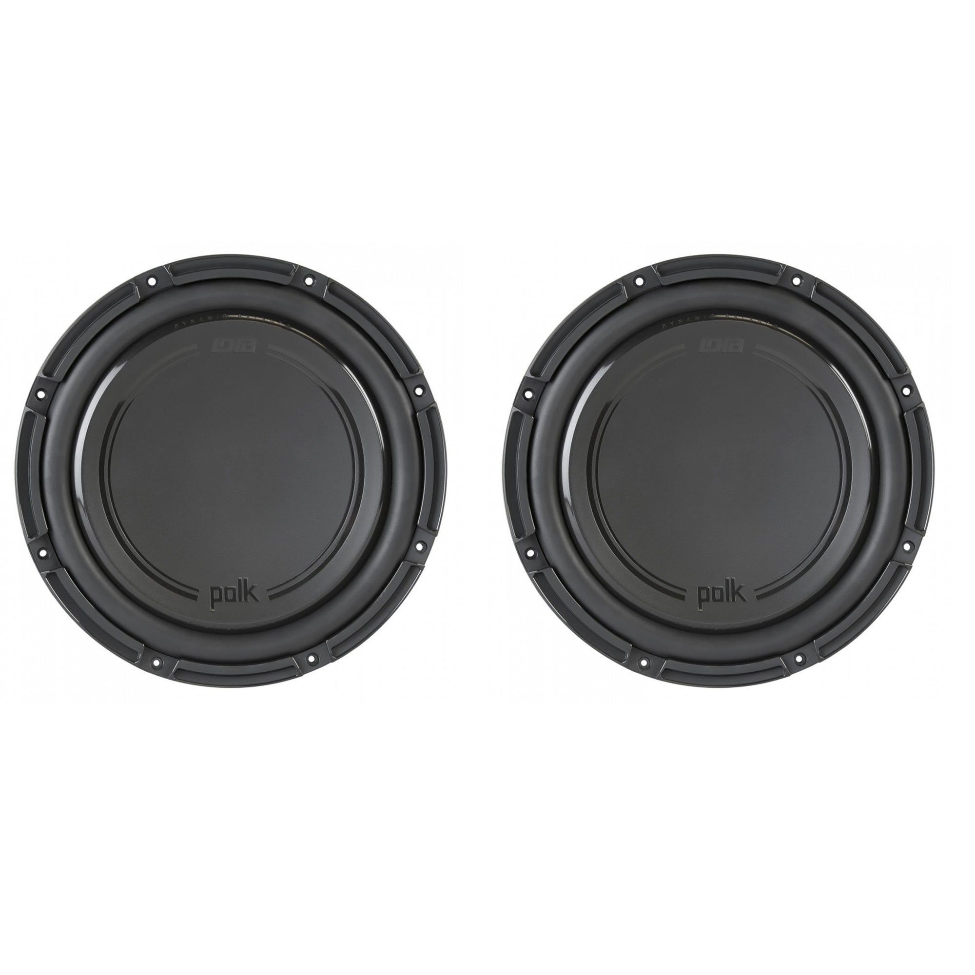 "Polk Audio DB+ Series 12"" 1110W 4 Ohm DVC Marine & Car Subwoofer (2 Pack)"