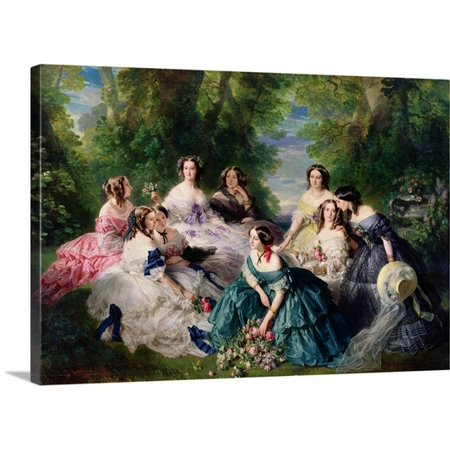 Great BIG Canvas Franz Xaver Winterhalter Premium Thick-Wrap Canvas entitled Empress Eugenie (1826-1920) Surrounded by her