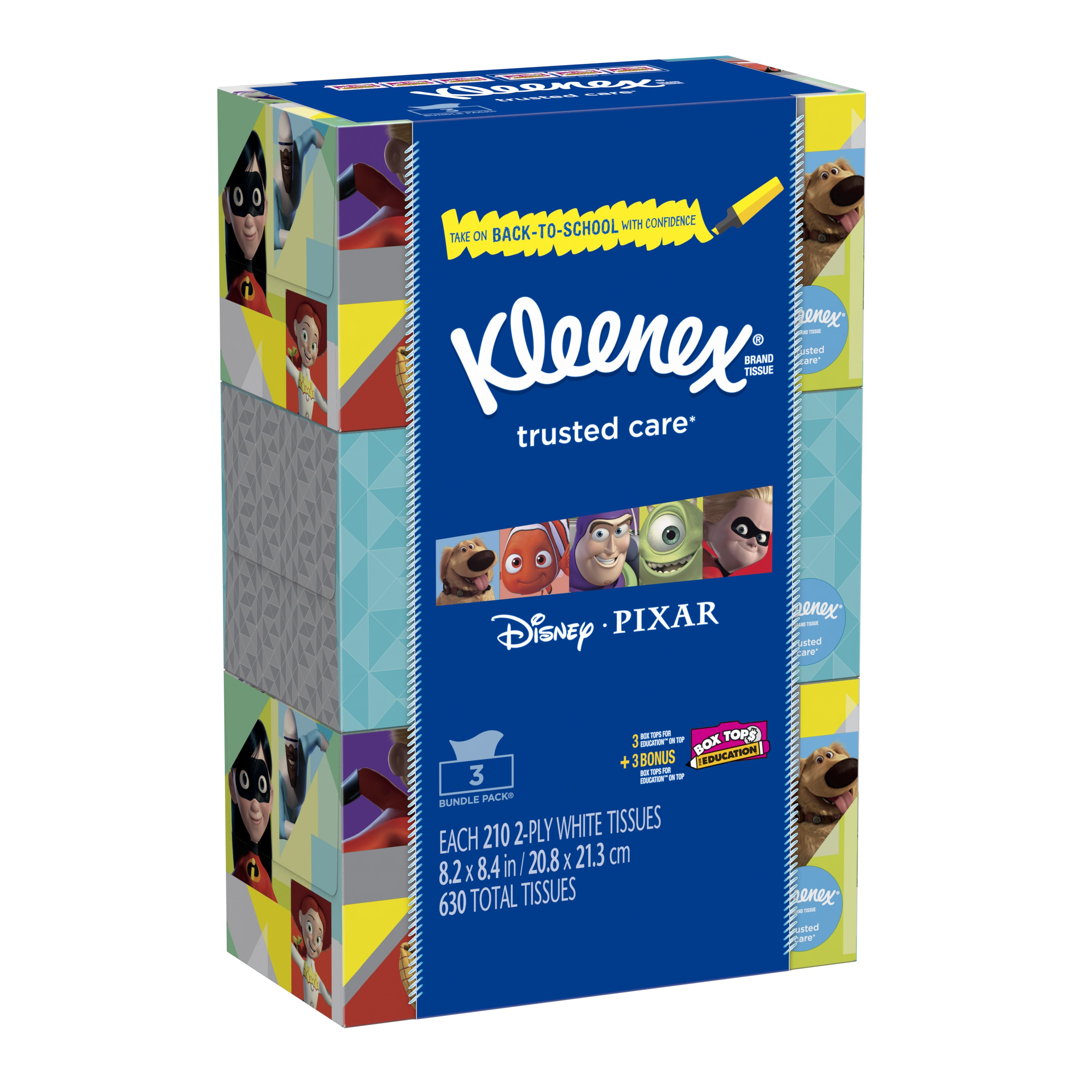 Kleenex Everyday Facial Tissues, 210 Sheets/Box, 3 Ct