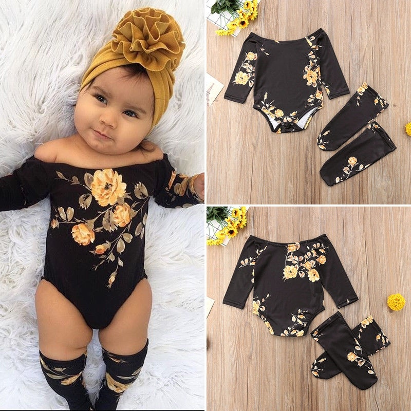 Baby leggings Vintage flower Leggings headband set Baby girl Toddler girl headband Flower leggings