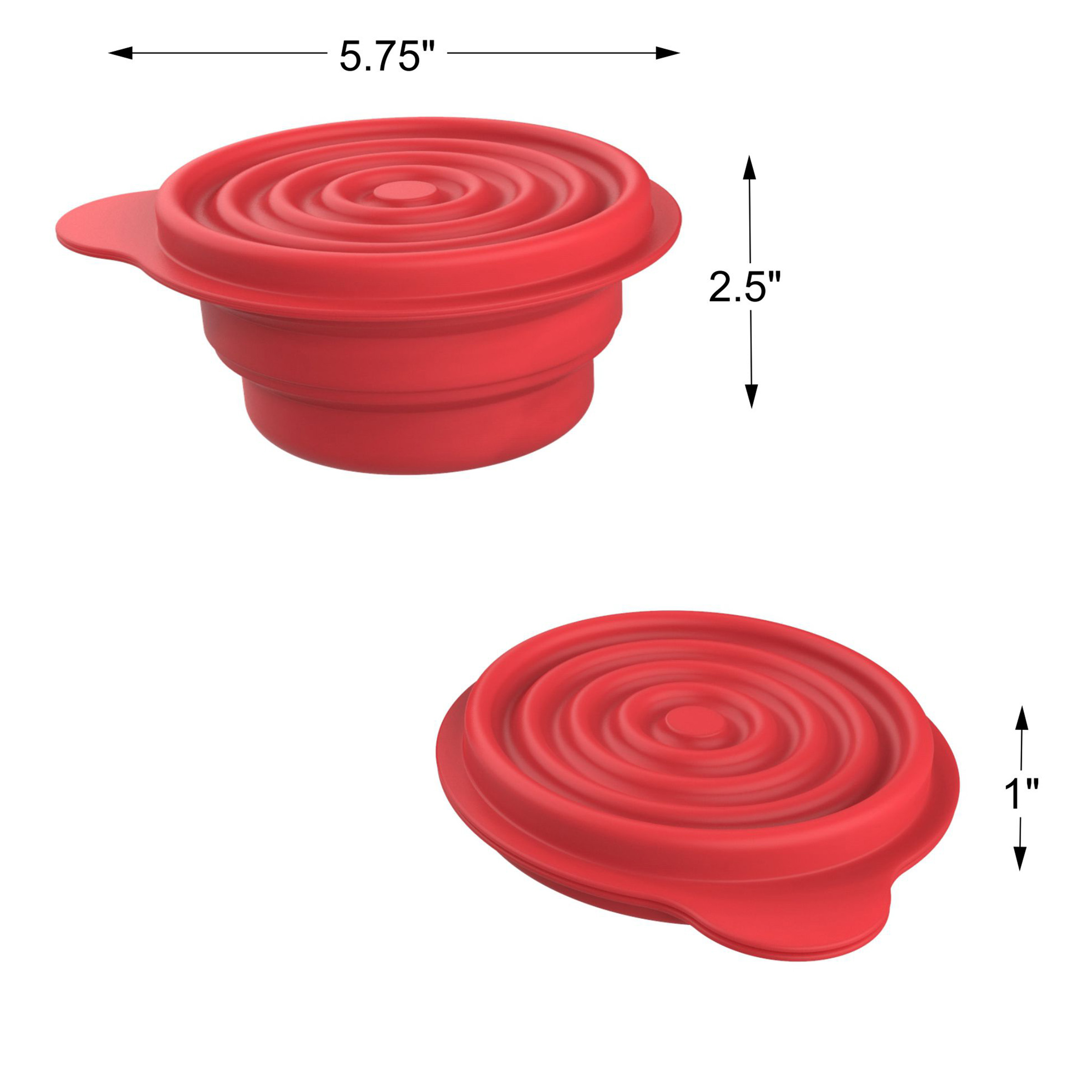 School Student Office YYCC Collapsible Silicone Bowl with Lid 500ML 1000ML for Outdoor Camping Travel Hiking and Indoor Home Kitchen Food-Grade