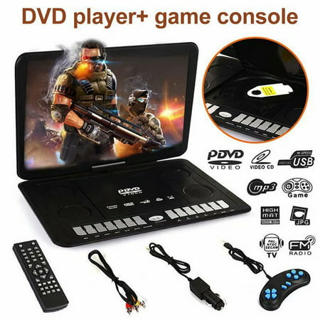 VicTsing 13.9 Inches Portable Mobile DVD HD Player 270° Swivel Screen with Game FM TV Function (Best Mobile Audio Player)