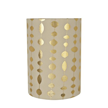 Aspen Creative 31254 Transitional Drum (Cylinder) Shaped Spider Construction Lamp Shade in Beige, 8