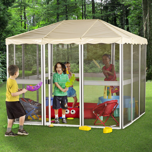 Gazebo Penguin Children's 7 Ft. W x 7 Ft. D Aluminum Permanent Gazebo by Gazebo Penguin