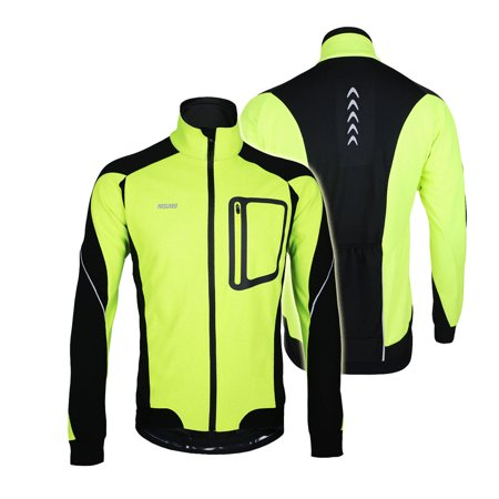 ARSUXEO Winter Warm Thermal Cycling Long Sleeve Jacket Bicycle Clothing Windproof Jersey MTB Mountain Bike