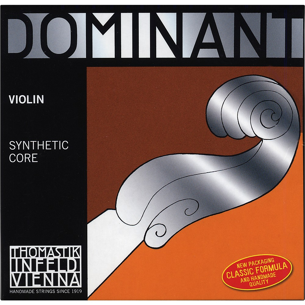 Thomastik Dominant 4/4 Size Weich (Light)  Violin Strings 4/4 Wound E String, Loop End