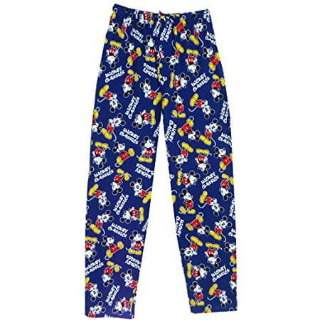 [P] Disney Men's Classic Mickey Pajama Pant Navy 2XL (Mens Disney Pajamas)