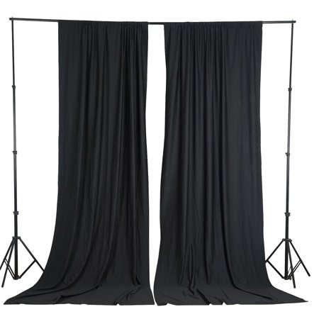 Efavormart 10FT Polyester Curtain Backdrop Drape Panel- Premium Collection For Window Wall Event Photoshoot Decoration Large Premium Flat Panel