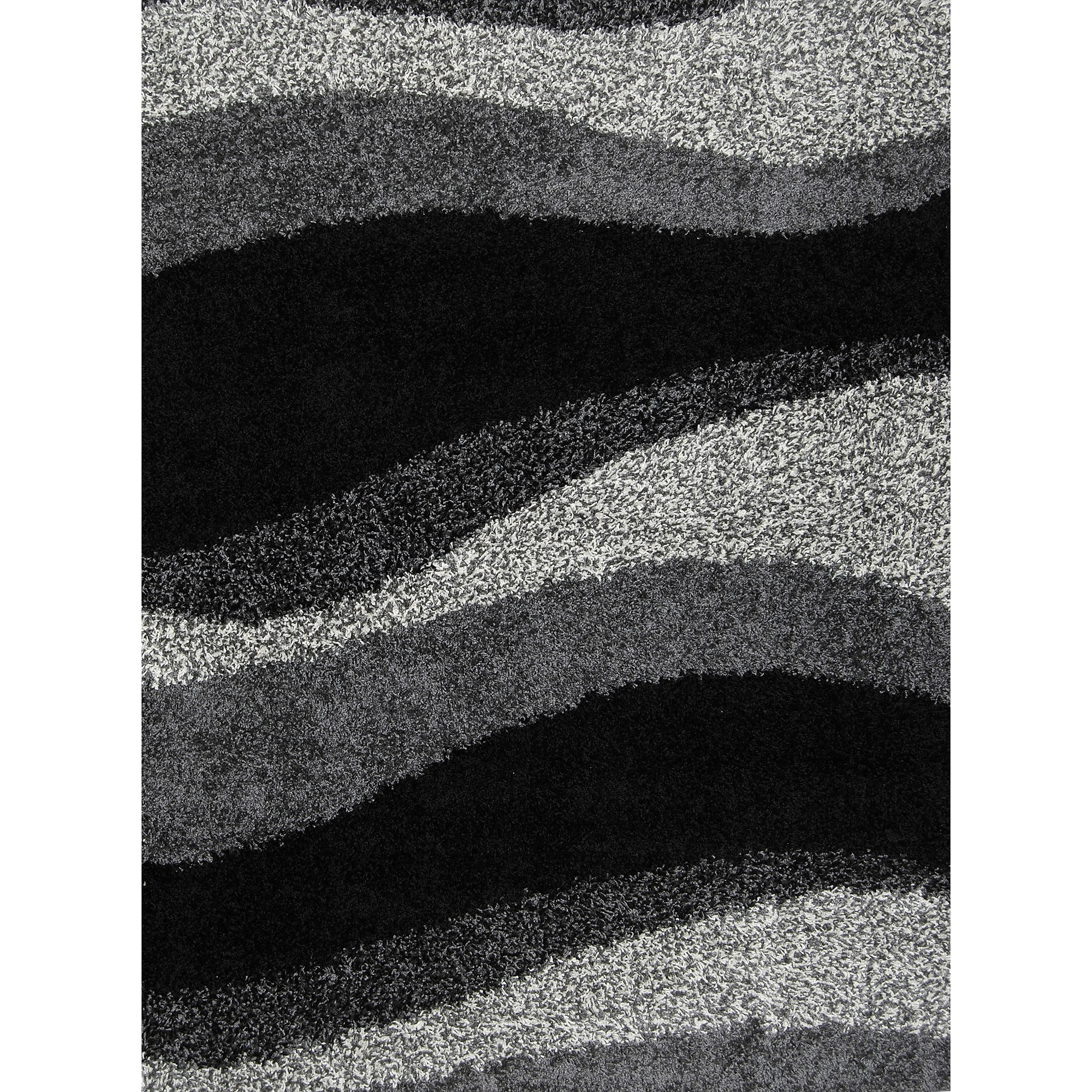 Home Dynamix Synergy Collection Black/Grey Contemporary Area Rug