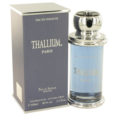 Parfums Jacques Evard Thallium Eau De Toilette Spray for Men 3.3 oz