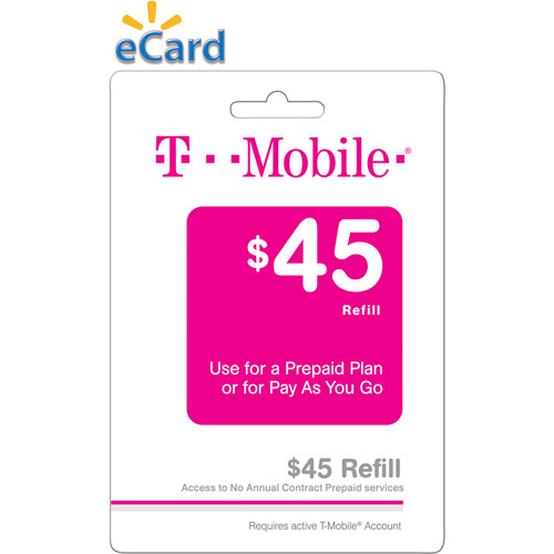T-Mobile Web $45 (Email Delivery)