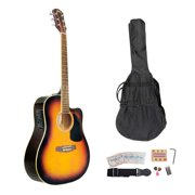 Pyle PGAKT40SB - Acoustic-Electric Guitar - Full Scale Guitar with Accessory Kit