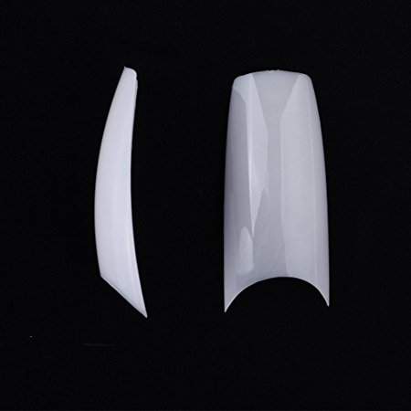 White Tip Halloween Nails (MAKARTT® 500pcs French Nail Tips C Shape Well Less False Nails 10)