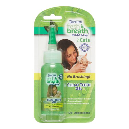 Tropiclean Fresh Breath Made Easy for Cats Dental Gel, 2 Oz