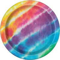 Tie Dye Paper Plates, 9 in, 8ct