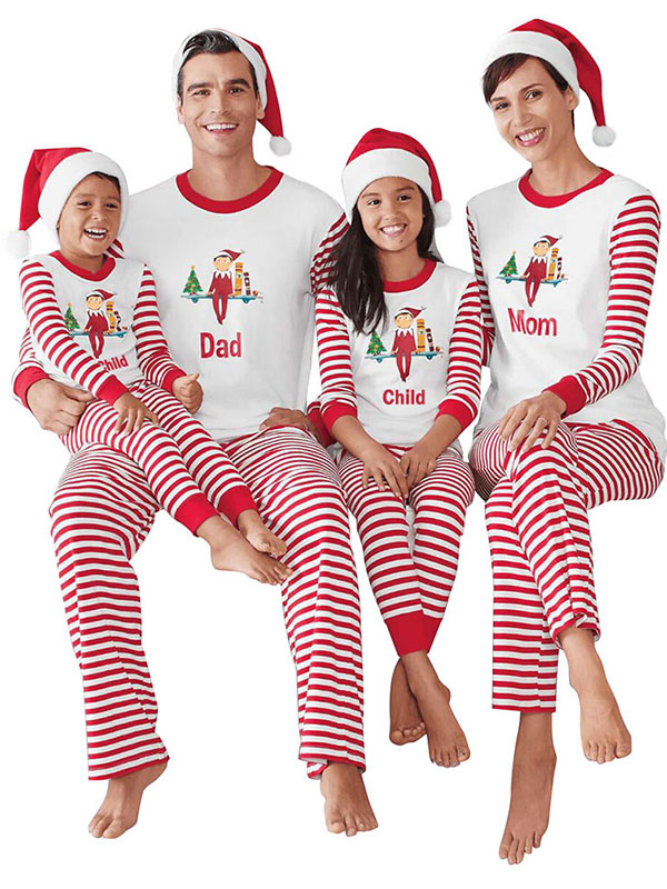 ZXZY Christmas Children Adult Family Matching Family Pajamas Sets ...