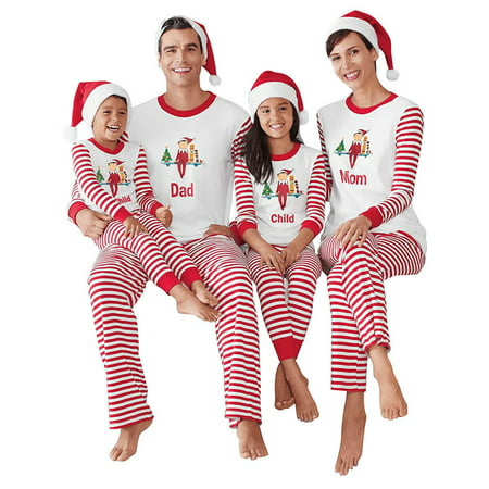 ZXZY Christmas Children Adult Family Matching Family Pajamas Sets Sleepwear Outfit - Christmas Pajams