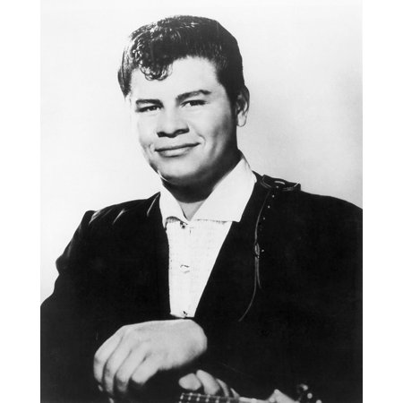 Ritchie Valens  1941 1959  Nmexican American Rock And Roll Singer Photograph C1958 Poster Print By Granger Collection