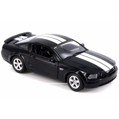 2005 Ford Mustang GT, Black w/ Black Stripes - New Ray SS-51951 - 1/32 Scale Diecast Model Toy Car (Brand New but NO BOX)