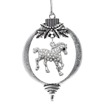 2.0 Carat Galloping Horse Holiday Ornament - Horse Holiday Ornament