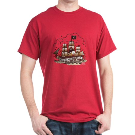 a725edd7338 CafePress - Peanuts All Hands On Deck - 100% Cotton T-Shirt - Walmart.com