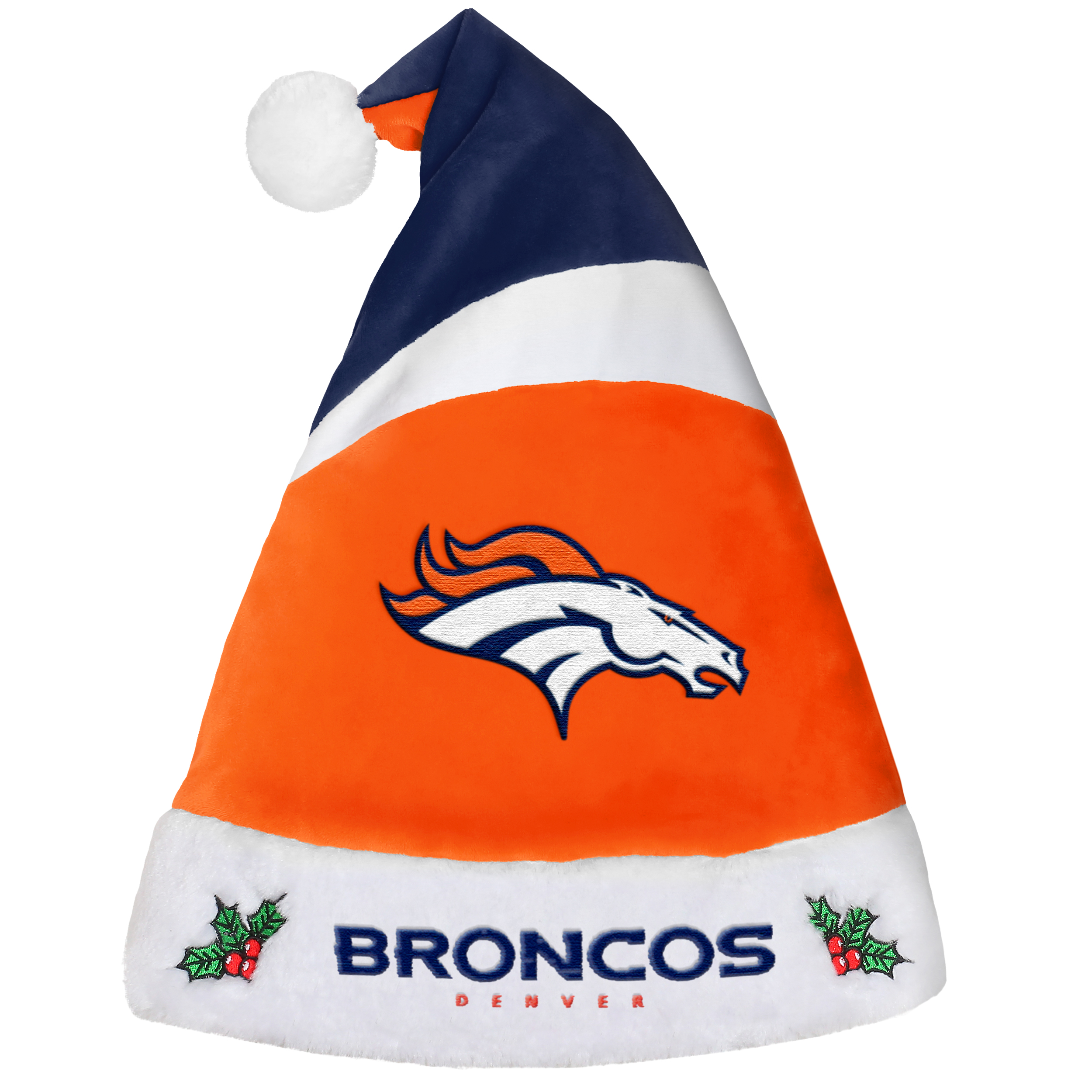 Denver Broncos Official NFL Holiday Christmas Santa Hat by Forever Collectibles 221722