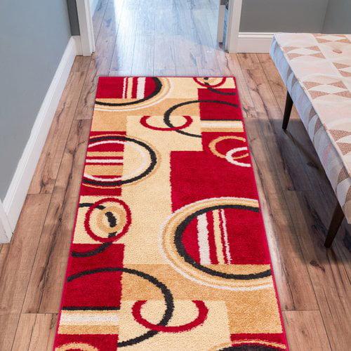 Ebern Designs Covin Red/Yellow Area Rug