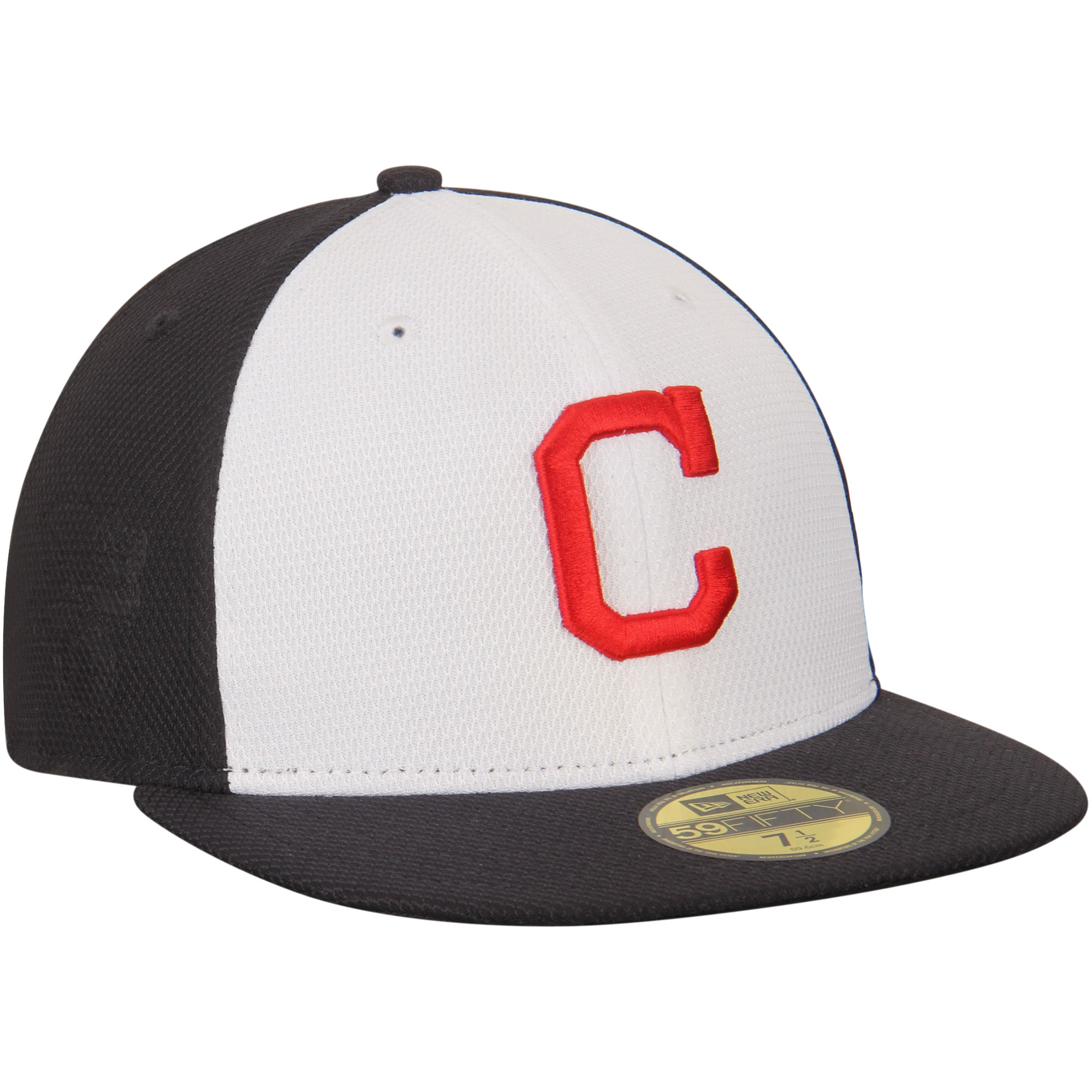 Cleveland Indians New Era Game Diamond Era 59FIFTY Fitted Hat - Navy/White