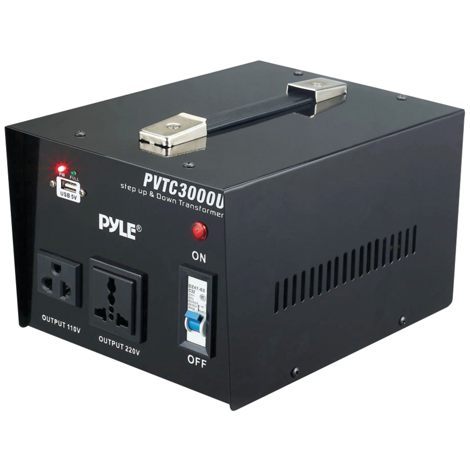 Pyle PVTC3000U Step Up & Step Down Voltage Converter Transformer (3000 Watt)
