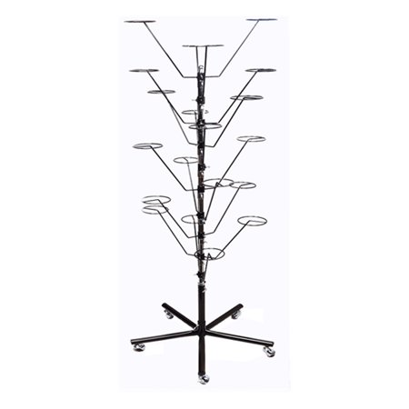 10 Layers Revolving Hat Floor Rack Hanger Retail Store Display Clothes Hang-BLK - Adult Retail Store