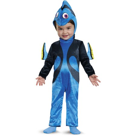 Child 39 s toddler baby disney finding dory fish costume for Baby fish costume