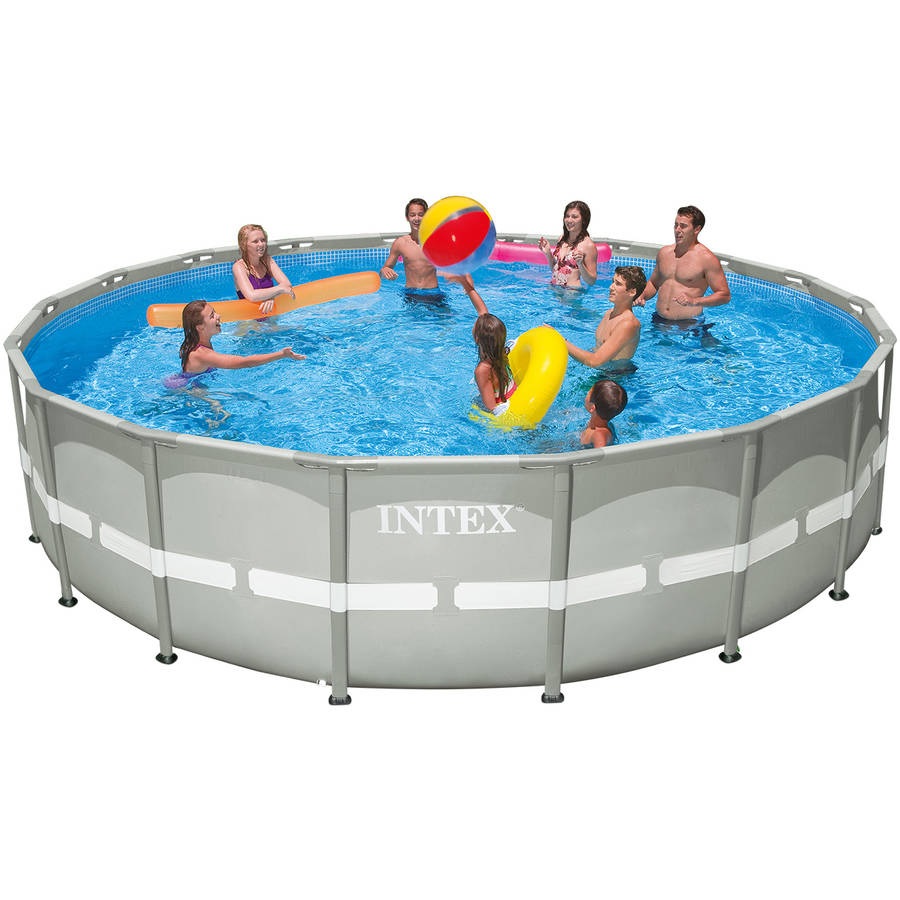 "Intex 18' x 48"" Ultra Frame Above Ground Swimming Pool with Filter Pump"