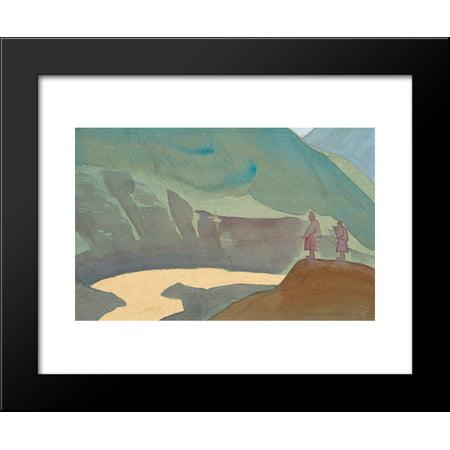 (River Chandra 20x24 Framed Art Print by Nicholas Roerich)