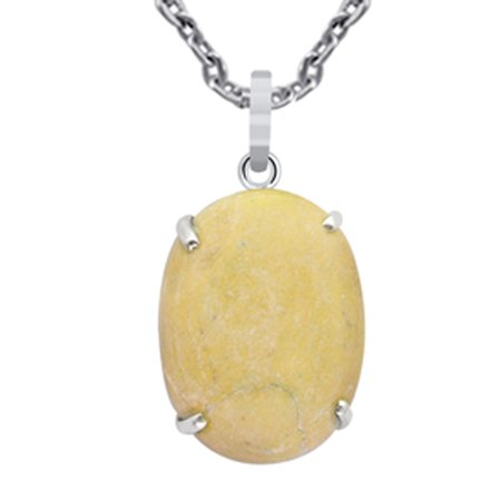 56 Ct. Natural Picture Jasper Pendant 925 Sterling Silver By Orchid jewelry