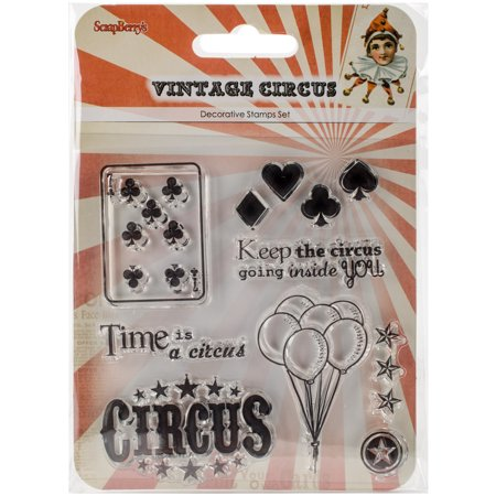 Vintage Stamping Setting - ScrapBerry's Vintage Circus Clear Stamps 4