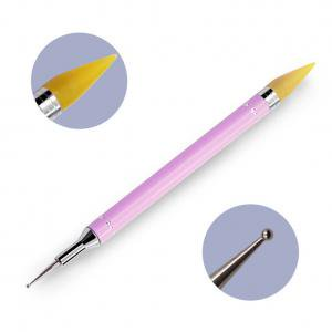Fancyleo 1 PCS Wax Pencil Rhinestone Applicator Application Nail Art Rhinestones Gems Pick up Tool](Purple Halloween Nail Art)