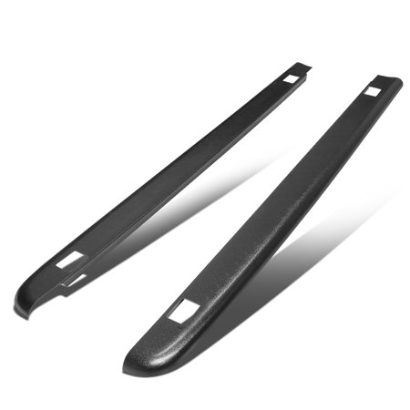 For 2007 to 2013 GMC Sierra 5.8Ft Bed Satin Black Bump Textured Rail Cap w / Stake Holes Left+Right