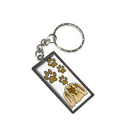 Pekingese Of Awesomeness Metal Rectangle Keychain