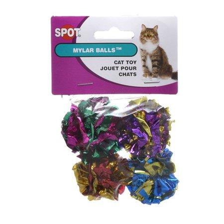 - Spot Spotnips Mylar Balls Cat Toys 4 Pack - Pack of 2