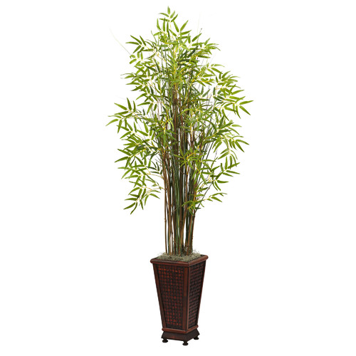 Nearly Natural Nearly Natural Grass Bamboo Floor Plant In Planter