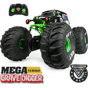 Monster Jam, Official Mega Grave Digger All-Terrain Remote Control Monster Truck with Lights, 1: 6 Scale, Kids Toys for Boys