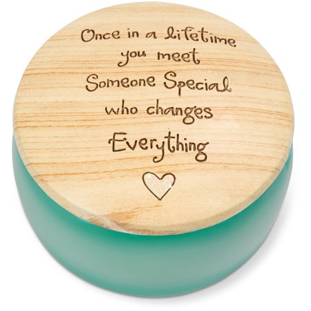 Pavilion - Once in a Lifetime you Meet Someone Special Who Changes Everything Round Teal Butterfly Keepsake Jewelry Box