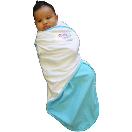 Tug Swaddling Blanket (Snug & Tug Swaddling Blanket, Blue, 0-3 Months)
