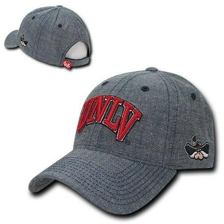 Denim Ball Cap - UNLV Runnin Rebels Nevada Las Vegas NCAA Cotton Denim Baseball Ball Cap Hat