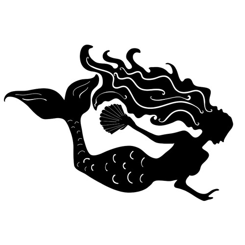 Dana Decals Mermaid Small Wall Decal