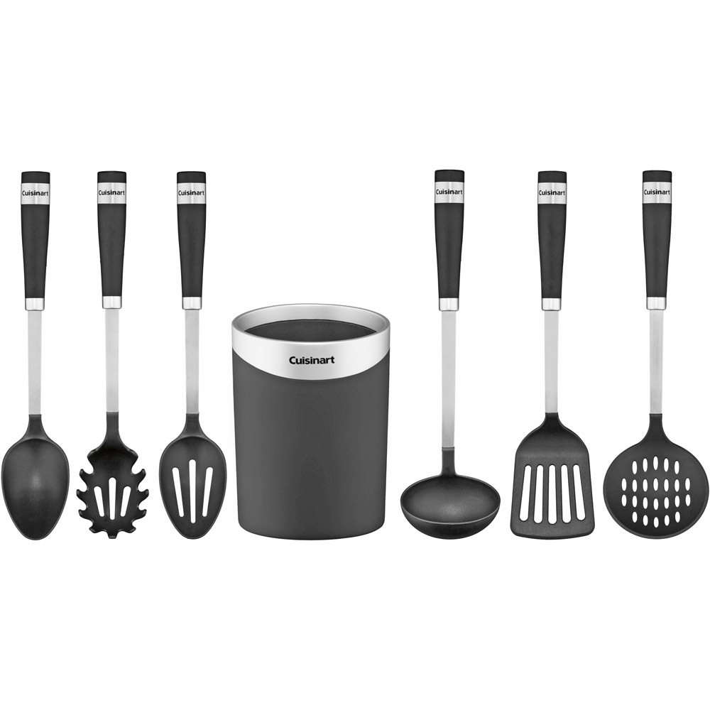 Cuisinart Non-Handled Crock with Barrel Handle Tools (Set of 7)