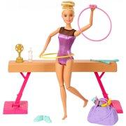 Barbie Gymnastics Playset With Doll, Balance Beam, 15+ Accessories
